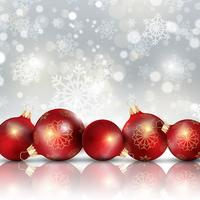 Fundo de enfeites de Natal vetor