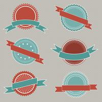 Emblemas de estilo retrô vetor