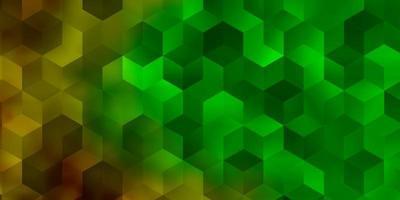 pano de fundo escuro multicolorido com hexágonos. vetor