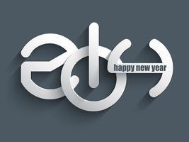 Feliz ano novo fundo vetor