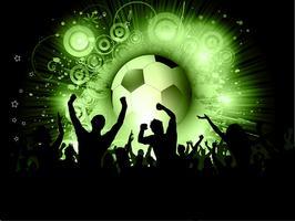 Multidão de futebol vetor