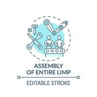 ícone de conceito de montagem de membro inteiro vetor