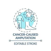 ícone do conceito de amputação causada por câncer vetor