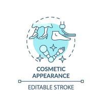ícone de conceito de aparência cosmética vetor