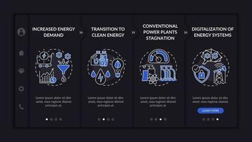 modelo de vetor de integração de direções de engenharia de energia