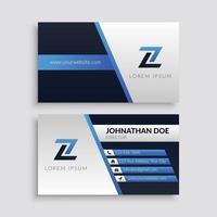 modelo de cartão corporativo moderno azul vetor