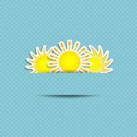 Fundo do símbolo do sol vetor