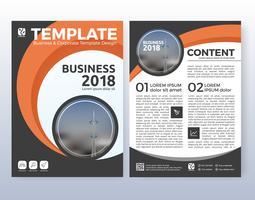 Projeto de layout de folheto de negócios corporativos. Adequado para flyer, broc vetor