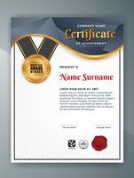 Design de modelo de certificado profissional multiuso. Vetor il