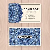 Design de cartão de nome comercial útil criativo. Manda colorida vintage vetor