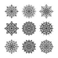 Conjunto de design de fundo ornamental de mandala de luxo vetor