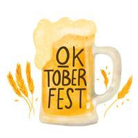 Caneca de cerveja bonito a Oktoberfest vetor