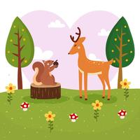 Ilustração em vetor melhor amigo de animais