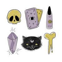 Elementos de Halloween assustador vetor