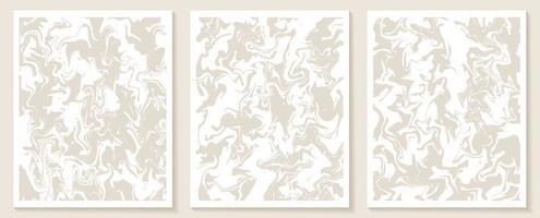 modelos estéticos contemporâneos com formas abstratas orgânicas e linhas em cores nude. fundo boho pastel em ilustração vetorial de estilo minimalista de meados do século vetor