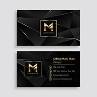 modelo de cartão de visita dourado de luxo premium vetor