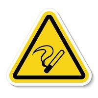 símbolo de não fumar vetor