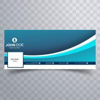 Design de banner belo modelo ondulado de facebook vetor