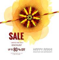 Banner de venda ou cartaz para o festival indiano de raksha bandhan cele vetor