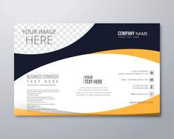 Vetor de modelo elegante onda de brochura de negócios elegante