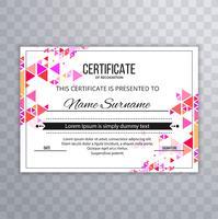 Fundo bonito elegante certificado colorido vetor