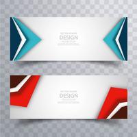 Design de cabeçalhos brilhantes coloridos modernos vetor