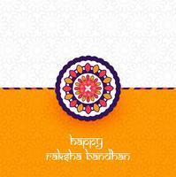 Bela Rakhi decorado, elegante cartão Design vector