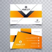 Belo cartão de visita criativo modelo vector design