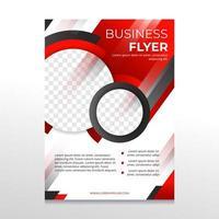 folheto de negócios preto e vermelho vetor