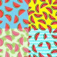 coleções de impressão de melancia e sementes. verão padrão sem emenda. perfeito para tecido de verão. vetor
