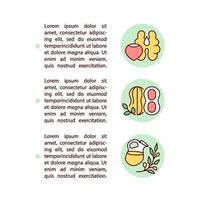ícones de linha de conceito de nozes e azeites com texto vetor