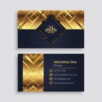 modelo de cartão de visita geométrico dourado luxuoso vetor