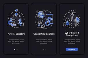 potencialize ameaças seguras integrando a tela da página do aplicativo móvel com conceitos vetor