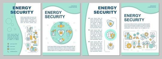 modelo de folheto de segurança energética vetor
