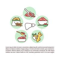 grãos alternativos, ícones de linha de conceito de açafrão com texto vetor