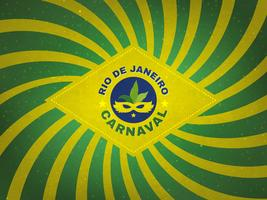 Projeto retro da barraca de Carnaval da bandeira de Brasil vetor