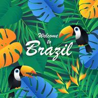 Fundo Exótico Tropico Do Brasil vetor