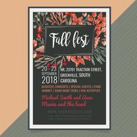 Cartaz do Festival de Outono de vetor