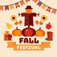 Cartaz do festival da queda vetor