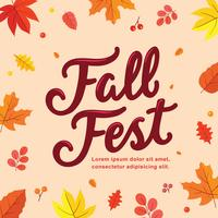 Fundo de Posterl Festival de Outono vetor