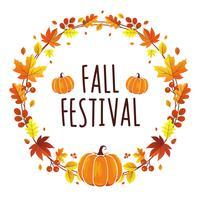 Festival de Outono de grinalda vetor