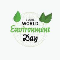 ilustração vetorial para o dia mundial do meio ambiente. vetor