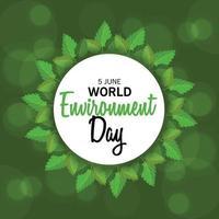ilustração em vetor de um plano de fundo para o dia mundial do meio ambiente.