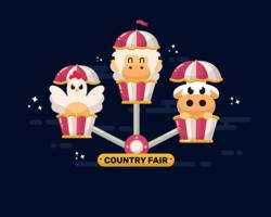 Vetor de feira do condado