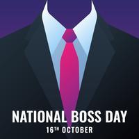 Cartão nacional do molde do dia do chefe vetor