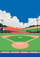 Paisagem do parque de beisebol vetor