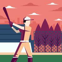 Ilustração de parque de beisebol vetor