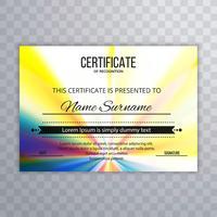 Fundo colorido certificado abstrato vetor