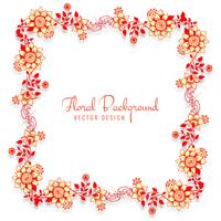 Fundo do casamento decorativo lindo quadro floral vetor