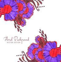 Fundo floral decorativo colorido abstrato do casamento criativo vetor